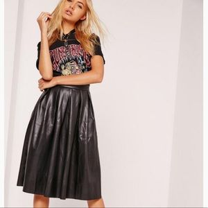 Coco + Jameson faux leather skirt